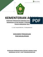 Dokumen Lelang Madrasah