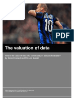 What's the value of data of a community of a Dutch footballer?