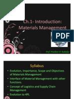 Materials & Logistics Management Introduction