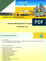 SRM-Vendor_Management_Briefing_Petronas ROS v1 0(FINAL-19 DEC 2011)