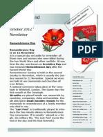 Friend To Friend Newsletter October 2012