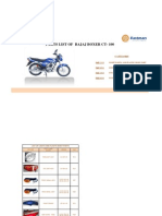 bajaj ct 100 spares list