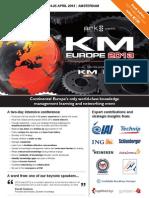 KM Europe 2013