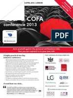 COLP & COFA conference 2013