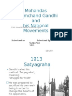Mohandas Karamchand Gandhi and his movements
