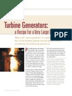 turbine generator fire