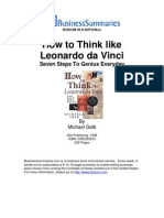 How to Think LikeLeonardodaVinci BIZ