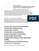 CSR TERMINOLOGIES