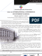 In3 Conference flyer 10-11 April