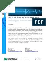 Using ICT financing for strategic gain