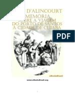 Memória sobre a viagem do porto de Santos à cidade de Cuiabá