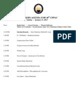 2013 CPPAC Tentative Schedule
