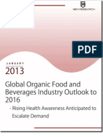 Global  Organic Food and Beverages Industry Outlook to 2016 - Rising Health Awareness Anticipated to Escalate Demand