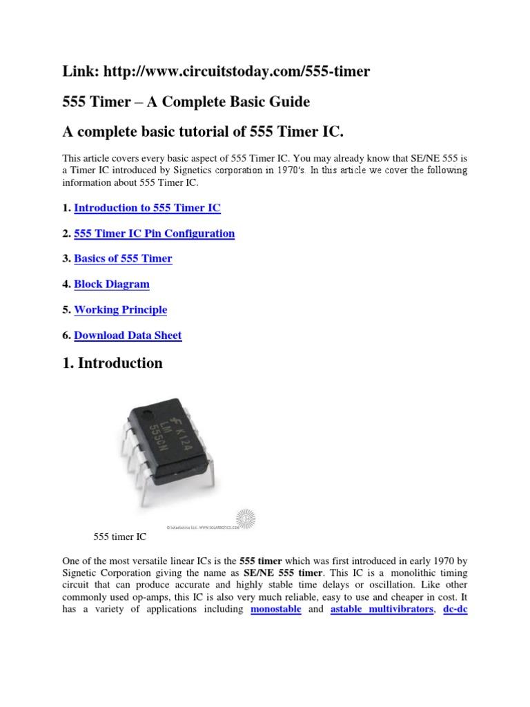 555 Timer Ic Working Principle Karmashares Llc Leveraging Internal Circuit Of