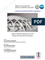 """""""Sulla sintesi geometrico‐strutturale di Pier Luigi Nervi"""", conferenza del Professor Francesco Romeo, Sapienza, Università di Roma"""
