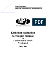 Emission Estimation Technique Manual in Combustion of Boilers