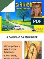 2013 01 27 Palestra a Caminho Da Felicidade Rosana de Rosa