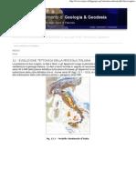 evoluzione tettonica penisola