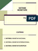 Sisteme Monetare