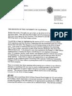 Yudof to UC Regents on 2012-13 Budget,