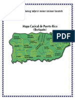 A Map Showing Where Some Tainos Located
