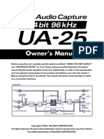 Edirol UA 25 manual