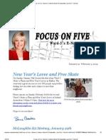 'Focus on Five' (Jan 21st - Feb 3 2013)