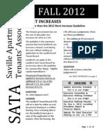 SATA Newsletter - 2012 Fall