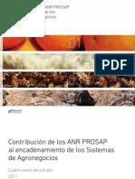 Contribución de Los ANR PROSAP Al Encadenamiento de Los Sistemas de Agronegocios