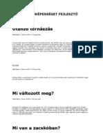 MEGFIGYELŐKÉPESSÉGET FEJLESZTŐ JÁTÉKOK