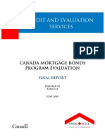canada mortgage bond program evaluation