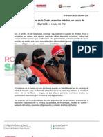 19-01-13 Ofrece Gobierno de la Gente atención médica por casos de depresión a causa de frío