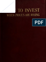How to invest when prices are rising?