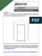 Dreamline Horizon_manual.owners Manual Instructions Westside Wholesale Call 1 877 998 9378