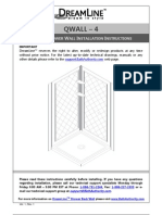 Dreamline Qwall_4.Owners Manual Instructions Westside Wholesale Call 1 877 998 9378