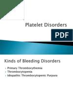 Plantelet Disorders