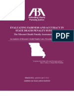 ABA's Missouri Death Penalty Assessment Report