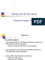 072 Working With MS SQL Server
