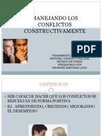 Como Manejar Los Conflicots Constructivamente