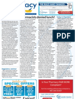 Pharmacy Daily for Tue 22 Jan 2013 - Pharmacists denied lunch, FOBruary, More self care, Regulatory seminar and much more...