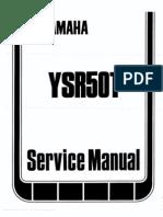1987 YAMAHA YSR 50T Service Manual