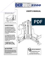 Weider Pro 3200 User's Manual