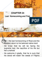 THE LAST HOMECOMING AND TRIAL OF RIZAL