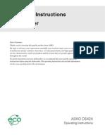 Asko D5424 Manual