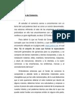 Fondo de Comercio.
