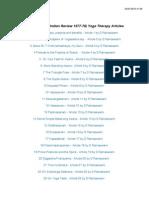 Vinyasa Krama Yoga Articles (1977-78)