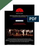 Houston Spanish and Flamenco Festival May 22-25 2013!