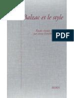 Balzac et le Style