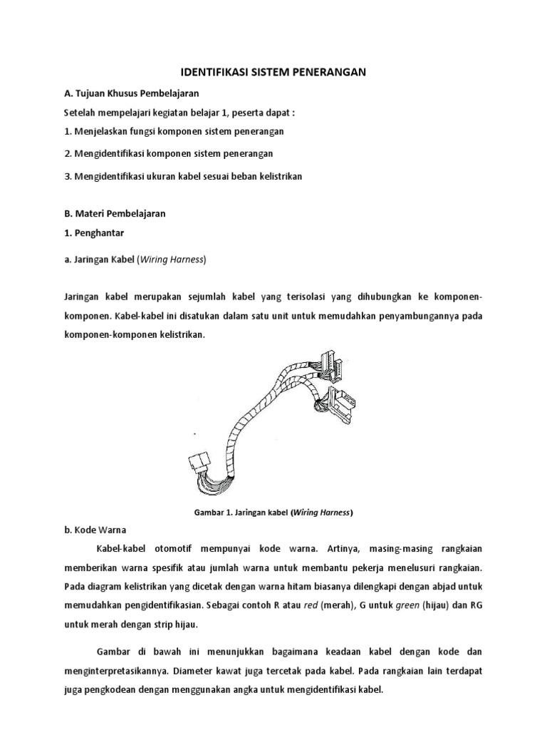 Sistem Penerangan Belajar Wiring Diagram