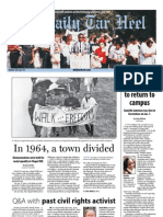 The Daily Tar Heel for January 22, 2013